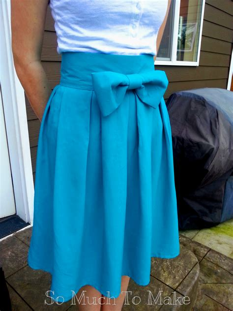 high waisted box pleat skirt so much to make
