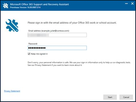 Office 365 Outlook Problems Office 365 Support And Recovery Assistant Outlook 2016