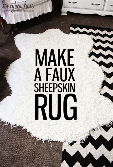 diy sheepskin rug adorable rugs ideas and tutorials for noted list