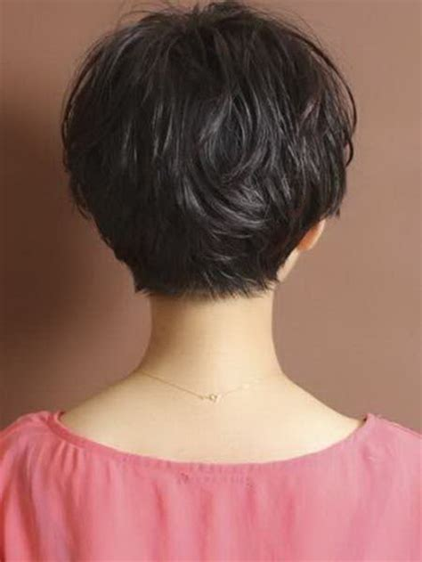 ladies hair styles very long back and short top and sides back view of short haircuts for women