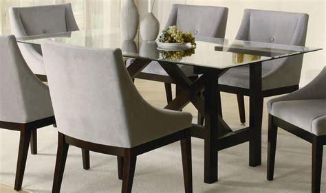 Glass Top Dining Room Tables Rectangular For More Elegant