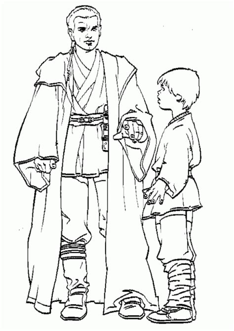 young obi wan star wars coloring pages coloring pages