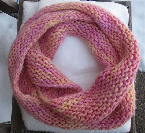 Knitting Pattern Scarf Circular Needle | infinity scarf knit with yarn from a friend i made it so