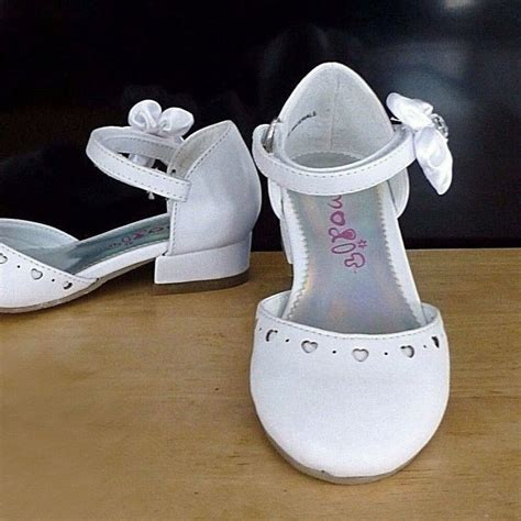 white medium pageant flower dress shoes baby toddler size 9 ebay