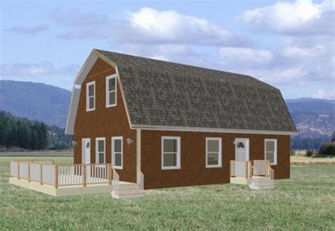 gambrel home plans architectural designs gambrel style wood barn kit post