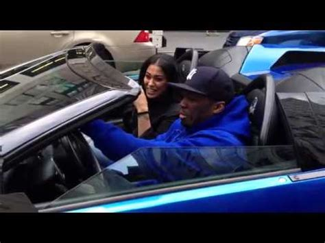 50 Cent Blue Lamborghini 50 Cent Spotted Around Nyc In His Blue Lambo