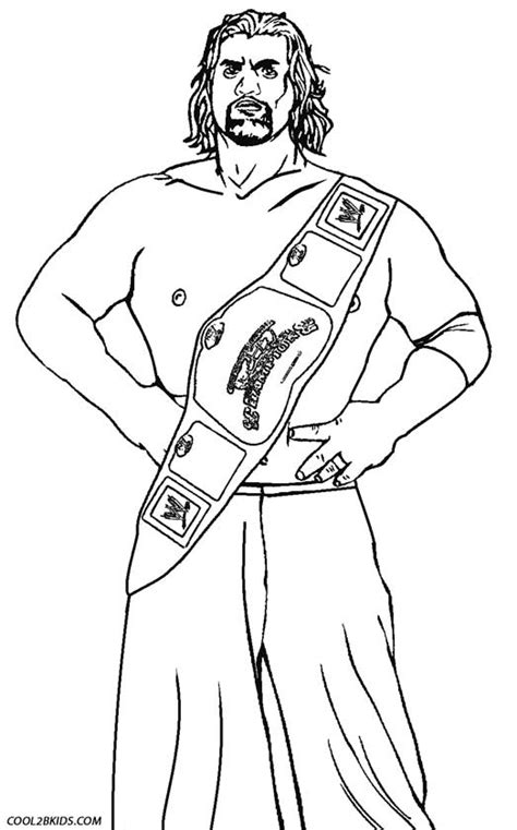 free wwe belt coloring pages