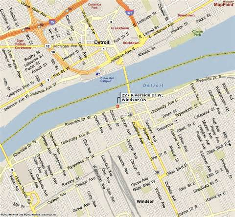Windsor Canada Map by Windsor Ontario Map Car Interior Design