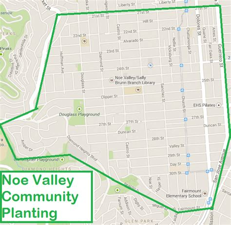 san francisco map noe valley noe valley community planting friends of the forest