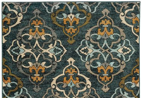 gold pattern rug teal and gold rug roselawnlutheran