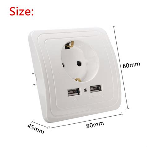 Stop Kontak Ac Mk stop kontak dinding eu dengan 2 usb port white jakartanotebook