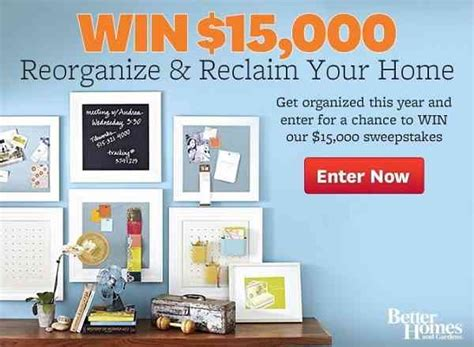 Eating Well Magazine Sweepstakes - bhg 15k sweepstakes win 15000 cash sweepstakesbible