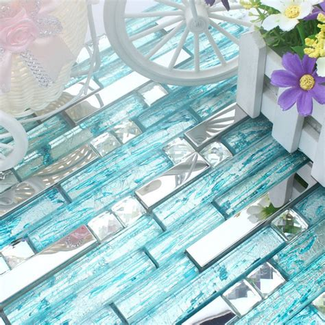 glass mosaic kitchen backsplash stainless steel backsplash blue glass mosaic tiles kitchen