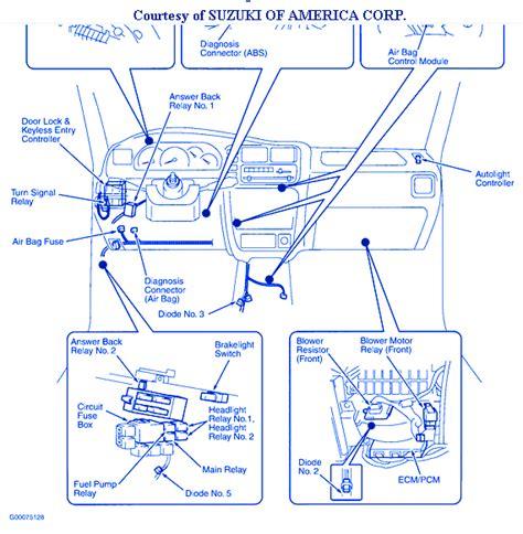 2009 suzuki sx4 fuse box wiring diagrams wiring diagram
