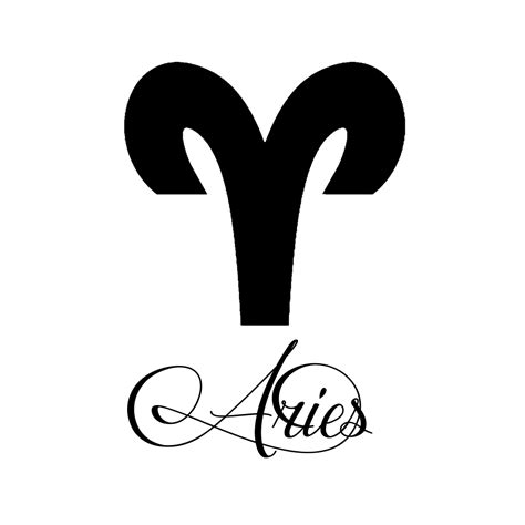 aries script zodiac sign aries script writing silhouette vinyl sticker car decal
