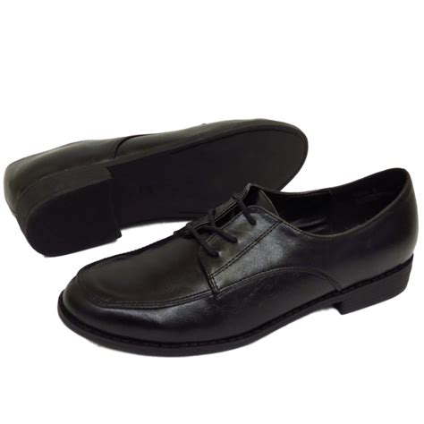 flat school shoes flat black lace up oxford brogue work school