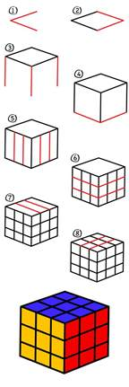 draw rubik cube art kids hub