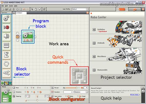 tutorial program lego nxt getting started with mindstorms nxt smashing robotics