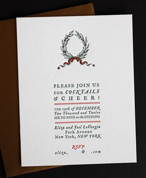 Holiday Cocktail Party Invitation - holiday cocktail party invitation paper monkey press