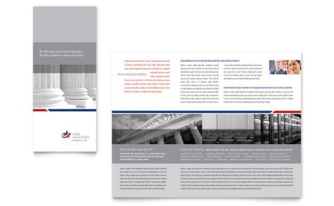 legal government services tri fold brochure template