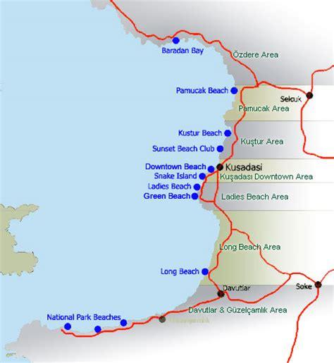 kusadasi port map kusadasi turcia turcia