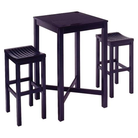 Pub Table Target by Home Styles 3 Bar Table With 2 Stools Black Target