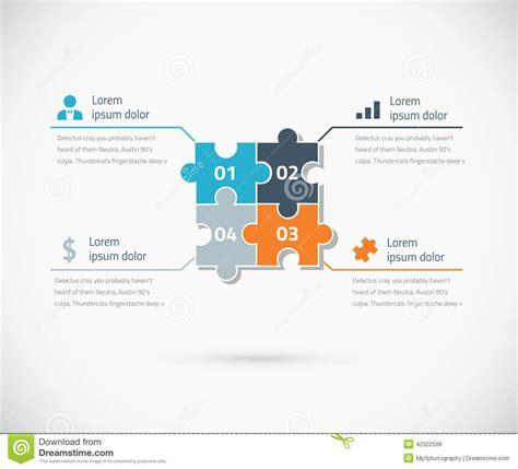 puzzle piece infographic options business concept stock