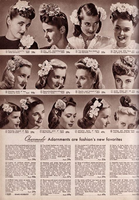 how to wear bangs in your forties a beautiful array of 1940s hair accessories vintage