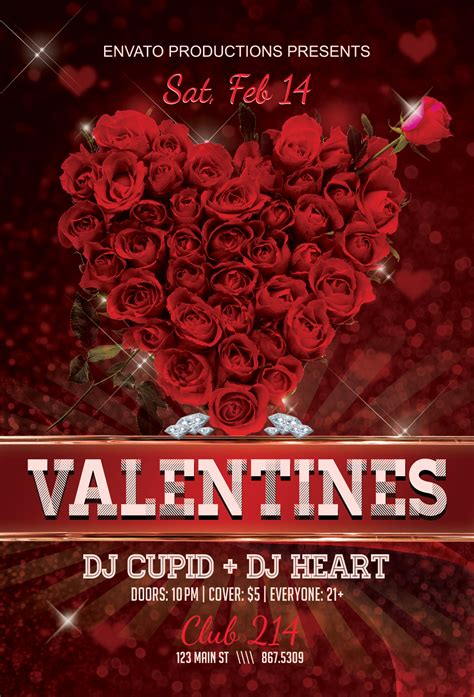 valentines day flyer s day flyer club flyer fresh view concepts
