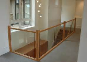 Glass Stair Banisters And Railings Glass And Wood Stair Guard Rail Home Remake Me Pinterest