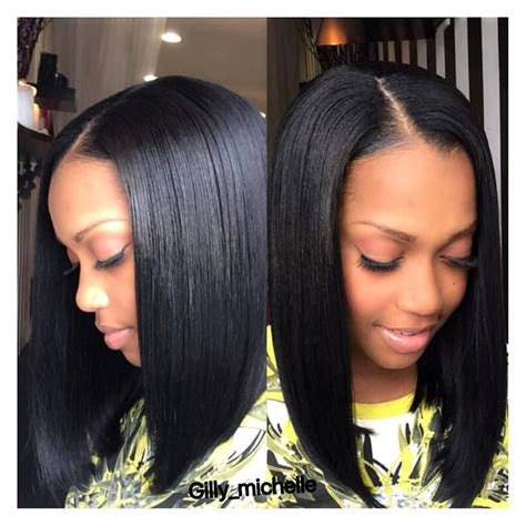 center part weaves pic 10 trendy center parting hairstyles for short medium