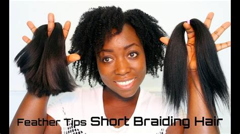how to do feather tip box braids how to feather tips short kanekalon braiding hair best