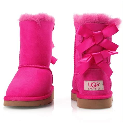 pink ugg boots with bows 59 ugg shoes pink bailey bow uggs from s