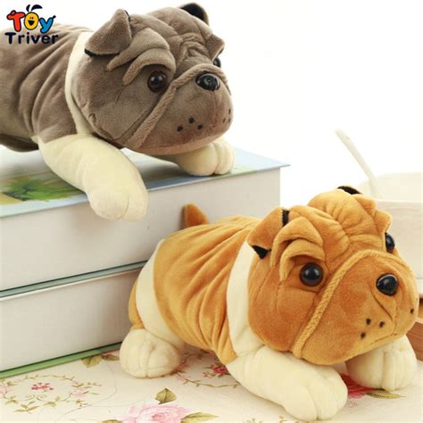Boneka Anjing Buldog Mini 20cm 20cm plush bulldog shar pei stuffed animal doll pendant baby friend birthday gift