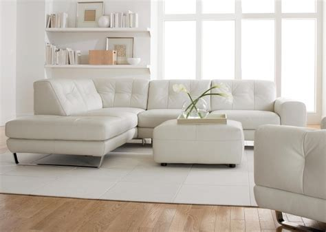 White Leather Sectional Sleeper Sofa With Chaise White Leather L Shaped Sofa