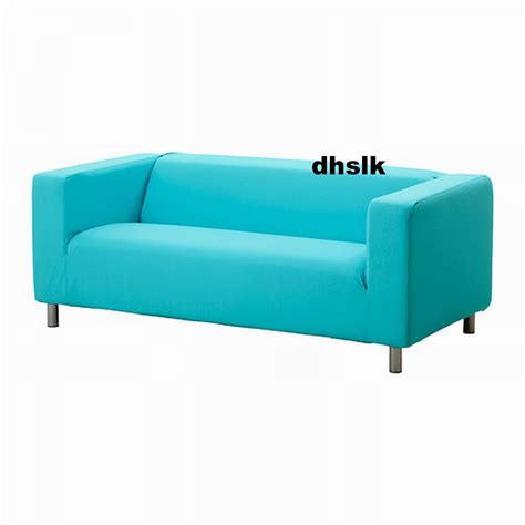 turquoise loveseat slipcover ikea klippan sofa slipcover cover granan turquoise blue