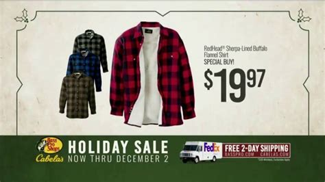 bass pro shops holiday sale tv commercial flannel shirts