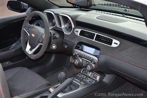 2012 camaro interior the interior of the new 2012 chevrolet camaro zl1