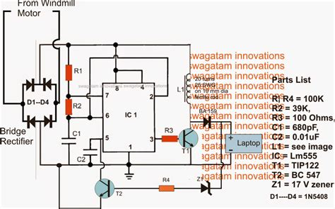 simplest windmill generator circuit