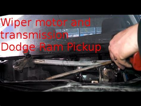 wiper motor transmission replacement 2004 dodge ram 1500 how to change wiper motor youtube