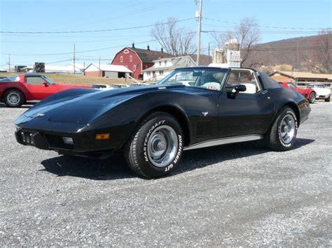 1977 black corvette 1977 black corvette stingray 4 speed survivor classic