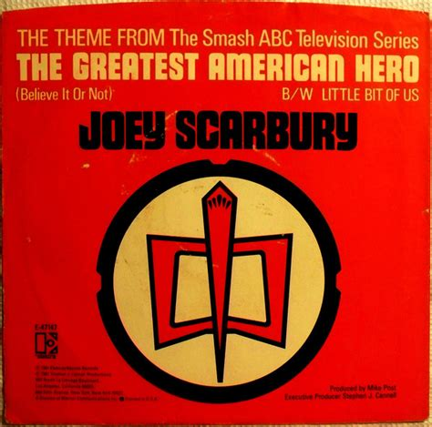 theme song greatest american hero joey scarbury theme from quot the greatest american hero