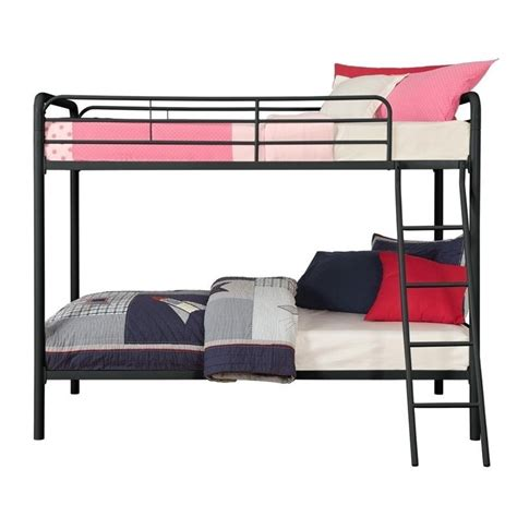 black metal twin bed metal twin over twin bunk bed in black 3135196