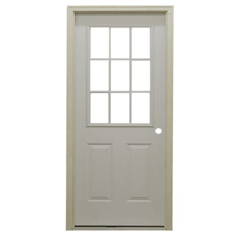 Metal Exterior Door 36 Quot 9 Lite Exterior Steel Door Unit Bargain Outlet