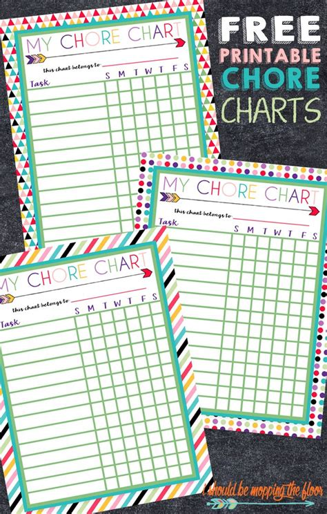 how to make a chore chart for kids living well spending less