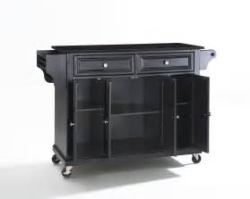 island carts:  solid black granite top kitchen cart island in black efurniture mart