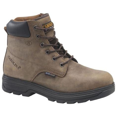 carolina steel toe work boots s carolina 174 6 quot waterproof steel toe work boots
