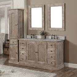 Bathroom Vanity With Linen Tower Wk Series 61 Quot Bathroom Vanity Set With Linen Tower Wayfair