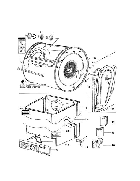 fisher paykel dryer parts diagram cabinet drum inlet duct diagram parts list for model
