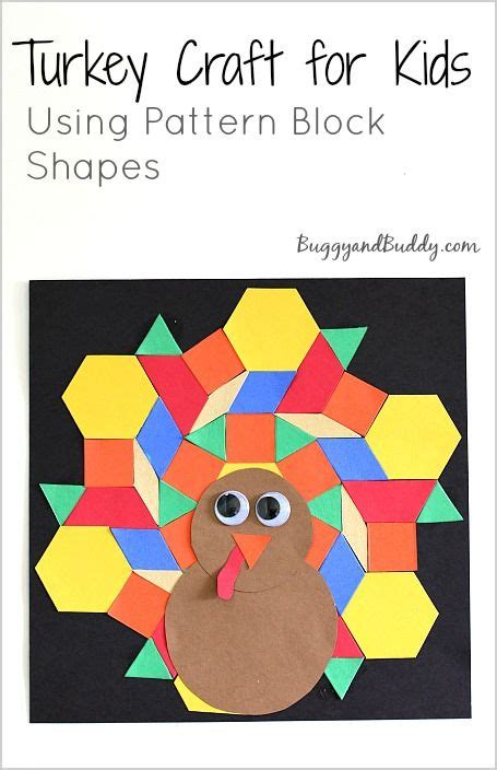 kindergarten pattern craft pattern block turkey craft for kids turkey craft